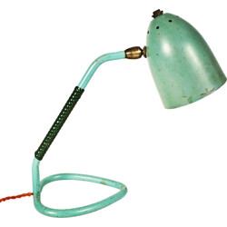 Mid-century turquoise bedside lamp - 1960s