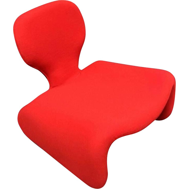 "Airborne red ""Djinn"" easy chair, Olivier MOURGUE - 1960s"