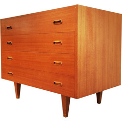 Mid-century chest of drawers with door - 1970s