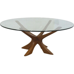 Eilersen round teak coffee table, Ilum WIKKELSØ - 1960s