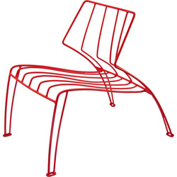 Mauser Werke GmbH coral metal low chair - 1950s