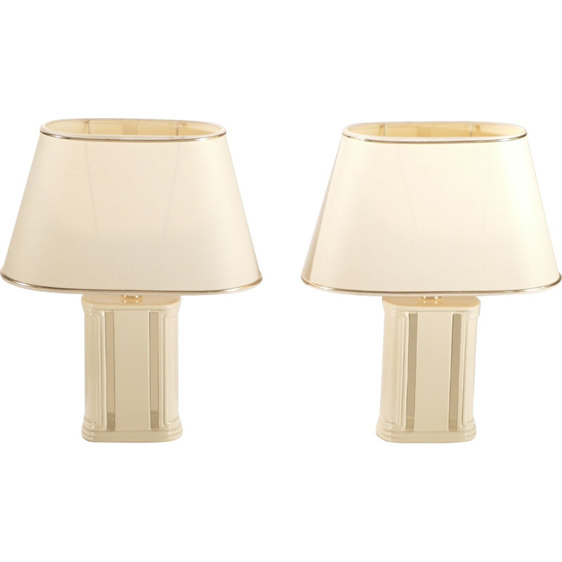 Pair of Maison Roméo small bedside lampes, Jean Claude MAHEY - 1970s