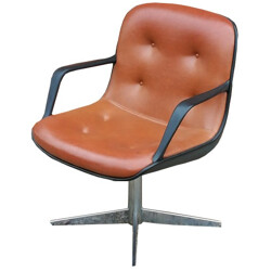 Swivel industrial vintage chair with two armrests - 1970s