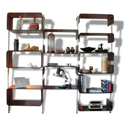 Bookcase with shelves in plexiglas - 1970s