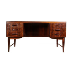 Danish brown rosewood desk - 1960s