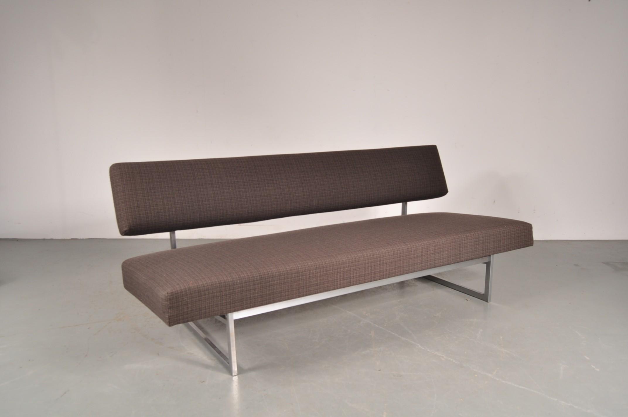 Gelderland 3 seaters brown sleeping sofa Rob PARRY 1960s