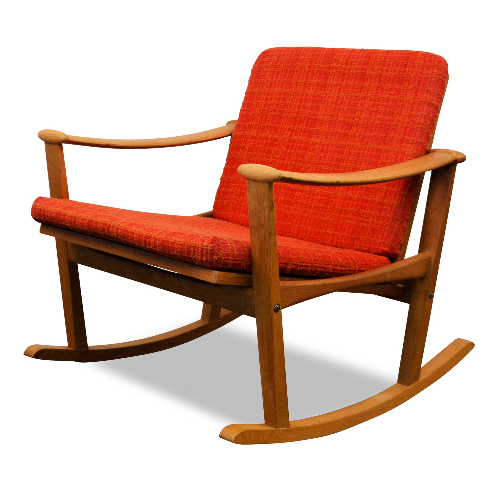 Nissen mid century Danish oak rocking chair Finn JUHL 1960s