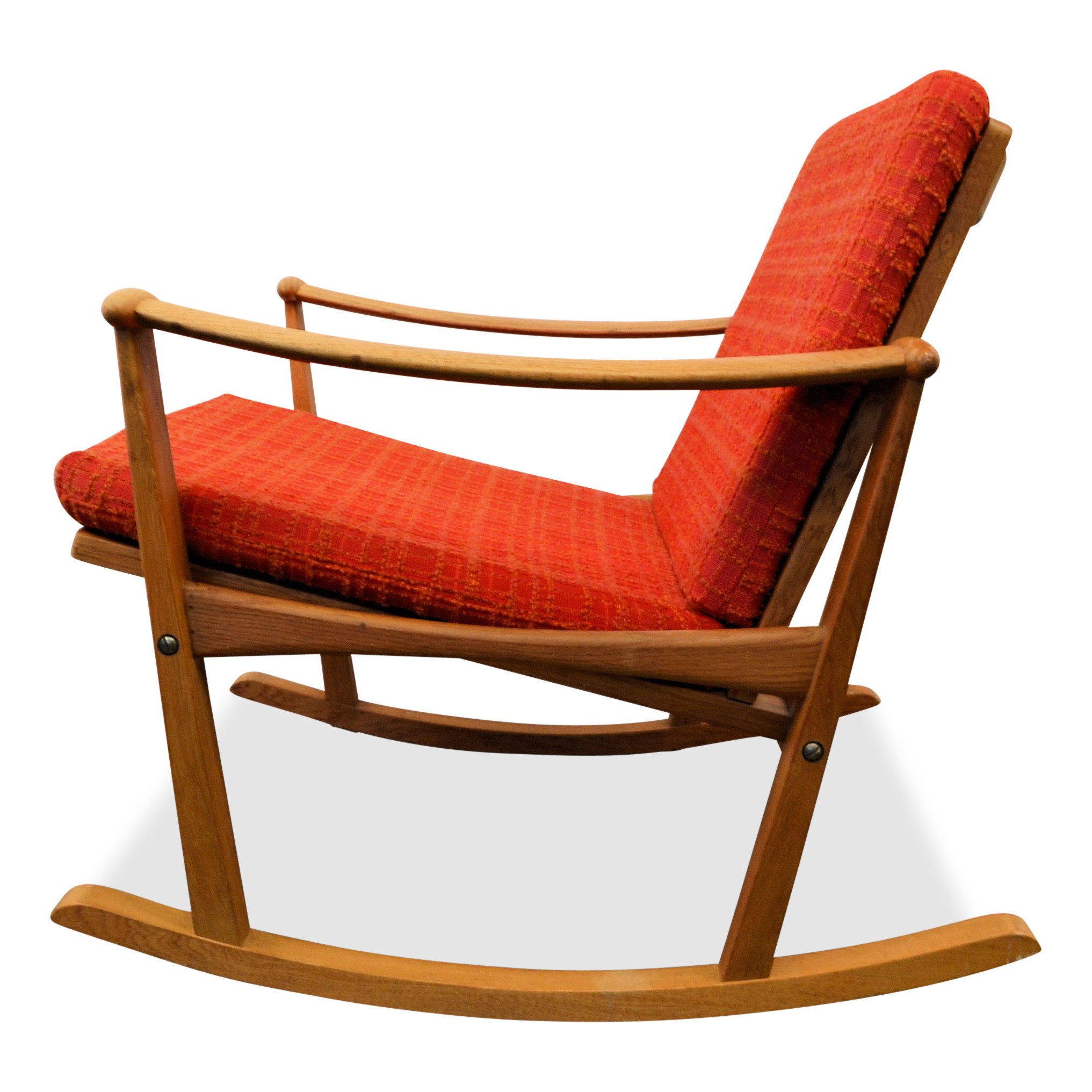 Nissen mid century Danish oak rocking chair Finn JUHL 1960s