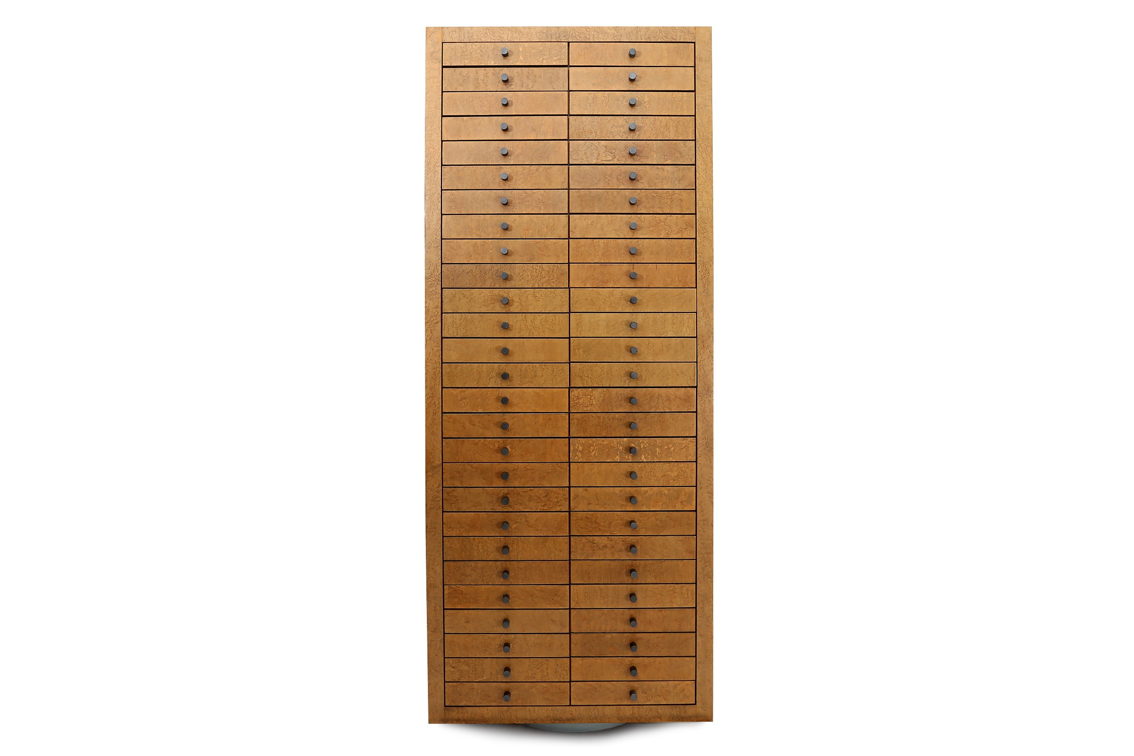 multi drawer wood and metal cabinet frans van praet 1980s me