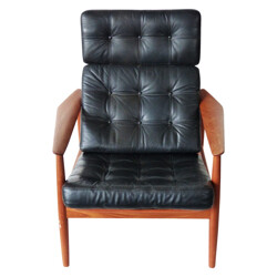 """Armchair with its ottoman """"FD 164"""", Arne VODDER - 1960s"""