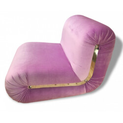 "Flex-Form ""Boomerang"" purple low seat, Rodolfo BONETTO - 1960s"
