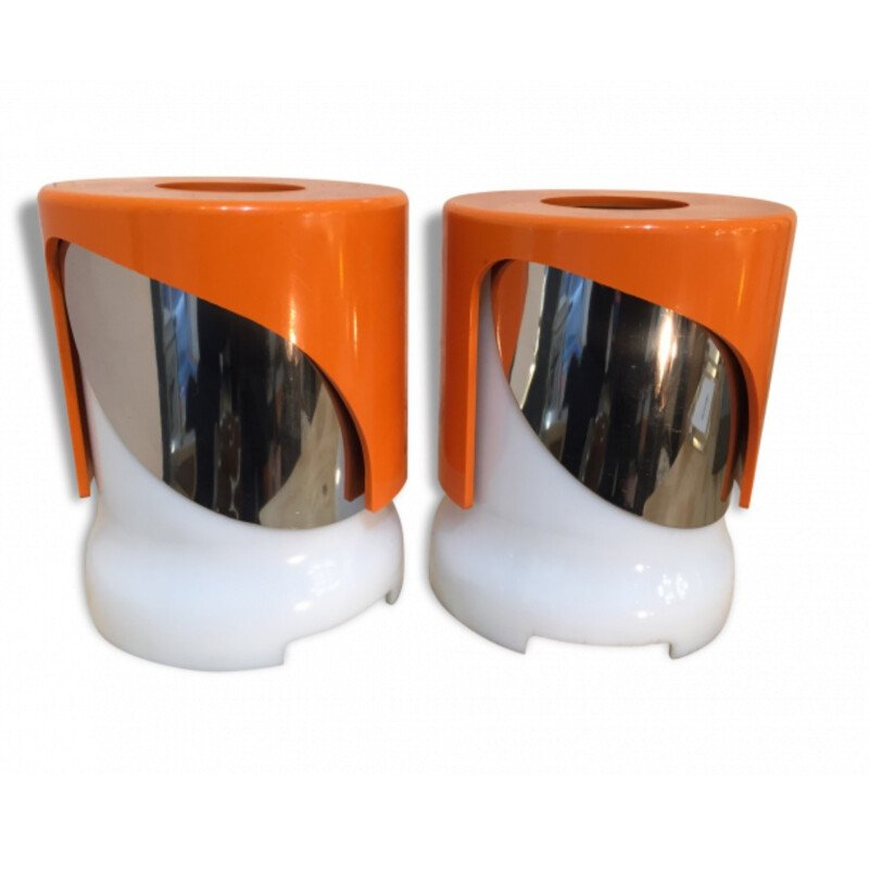 "Kartell pair of ""KD24"" table lamps, Joe COLOMBO - 1960s"