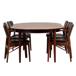 Sibast extendable dining set in rosewood, Arne VODDER - 1960s
