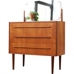 Danish dressing table with adjustable mirror in teak - 1960s