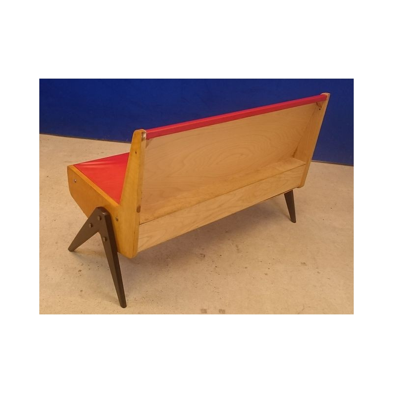 Eka Möbel vintage bench with compass feet - 1950s - Design Market