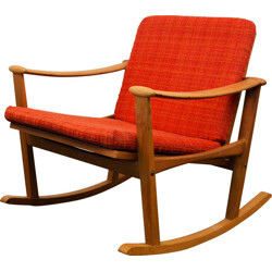 Nissen mid-century Danish oak rocking chair, Finn JUHL - 1960s