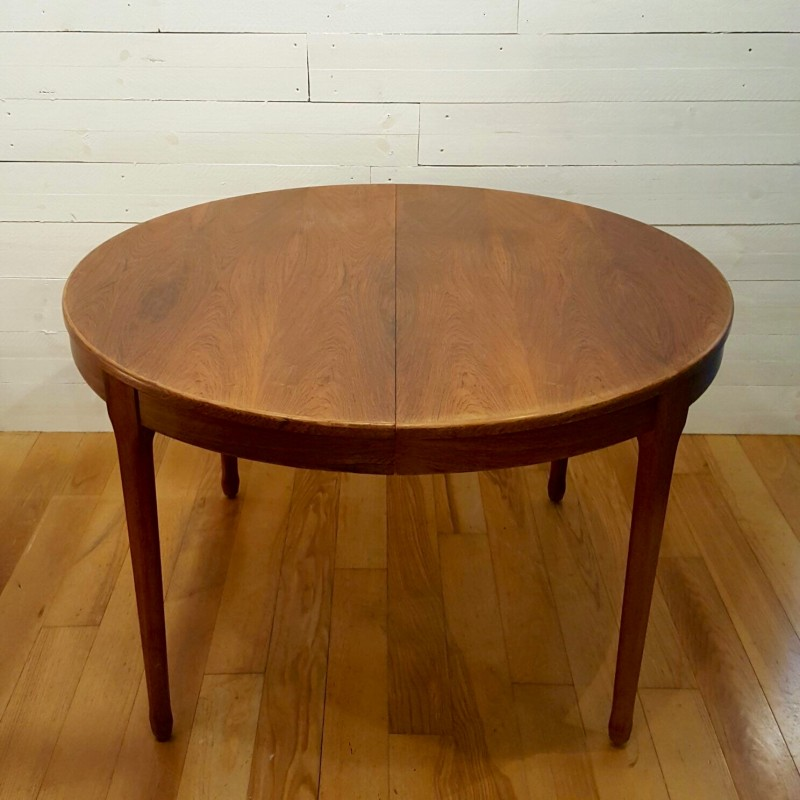 Meuble TV Paris extensible round table in rosewood - 1960s - Design ...