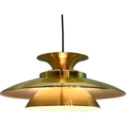 Danish hanging lamp in brass and aluminium - 1960s