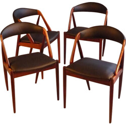 "Set of 4 Schou Andersen ""Model 31"" rosewood dining chairs, Kai KRISTIANSEN - 1960s"