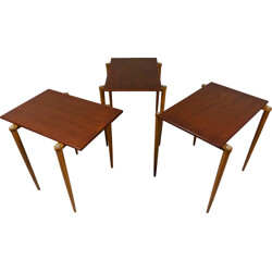 Opal set of 3 nesting tables in teak - 1950s