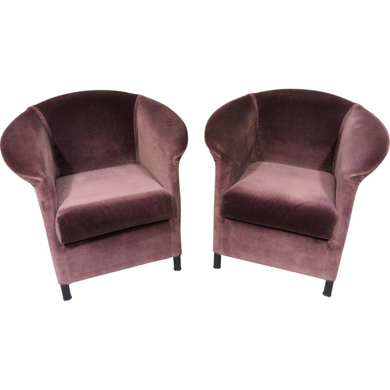 Wittmann set of 2 easy chairs, Paolo PIVA - 1980s