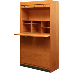 Light oakwood cabinet with several compartments - 1950s