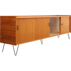 Walnut sideboard with hairpin legs - 1960s