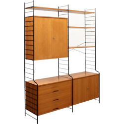 WHB teak shelving system with several compartments - 1960s