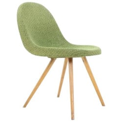 Vertex Czech green Dining Chair, Miroslav NAVRATIL - 1950s