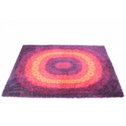 Mid century rug with oval shapes - 1970s