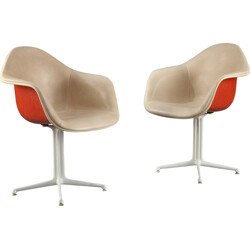 "Pair of Herman Miller ""La Fonda"" chairs, Charles & Ray EAMES - 1960s"