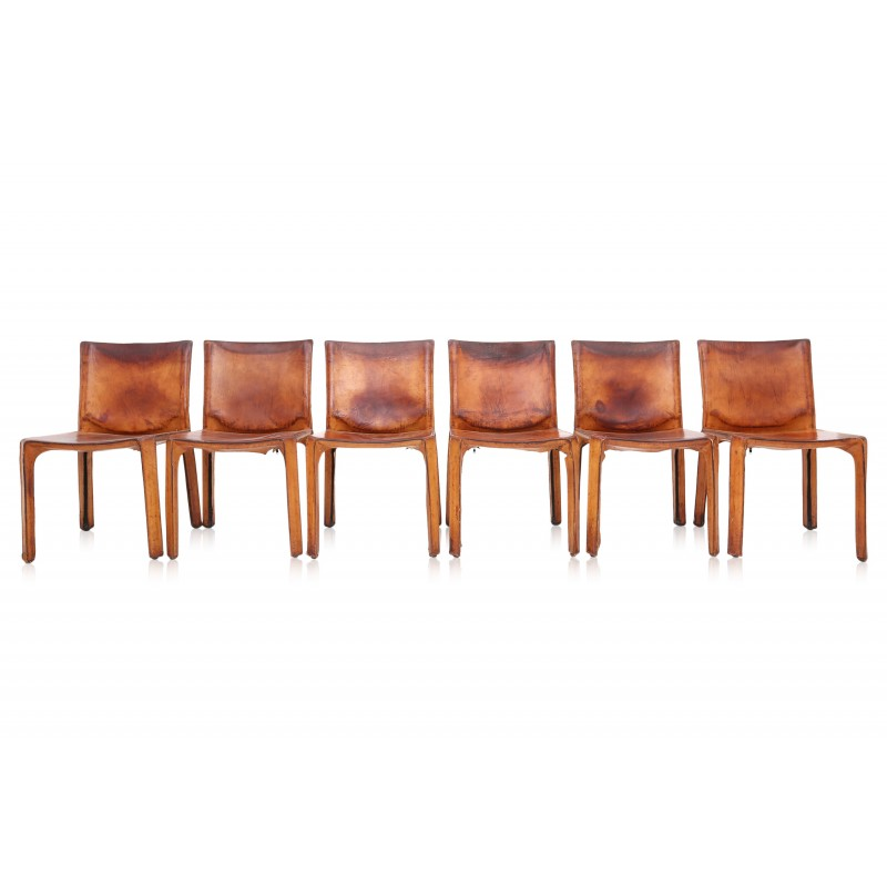 Brilliant Cassina Cab 412 Set Of Six Brown Leather Dining Chairs Mario Bellini 1970S Ocoug Best Dining Table And Chair Ideas Images Ocougorg
