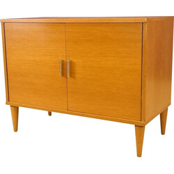 Small sideboard in blond ash - 1950s