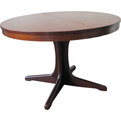 Round extendable dining table with central Foot - 1970s