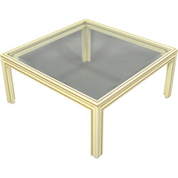 Coffee table in aluminium and glass, Pierre VANDEL - 1970s