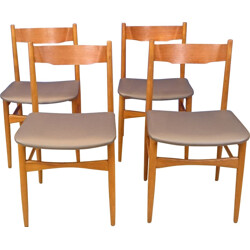 Set of 4 vintage Scandinavian chairs in teak - 1950s