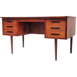 Danish desk with concave shape in teak - 1960s