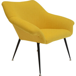 Fully restored armchair in yellow - 1970s