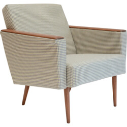 Armchair with square foot and springs - 1960s