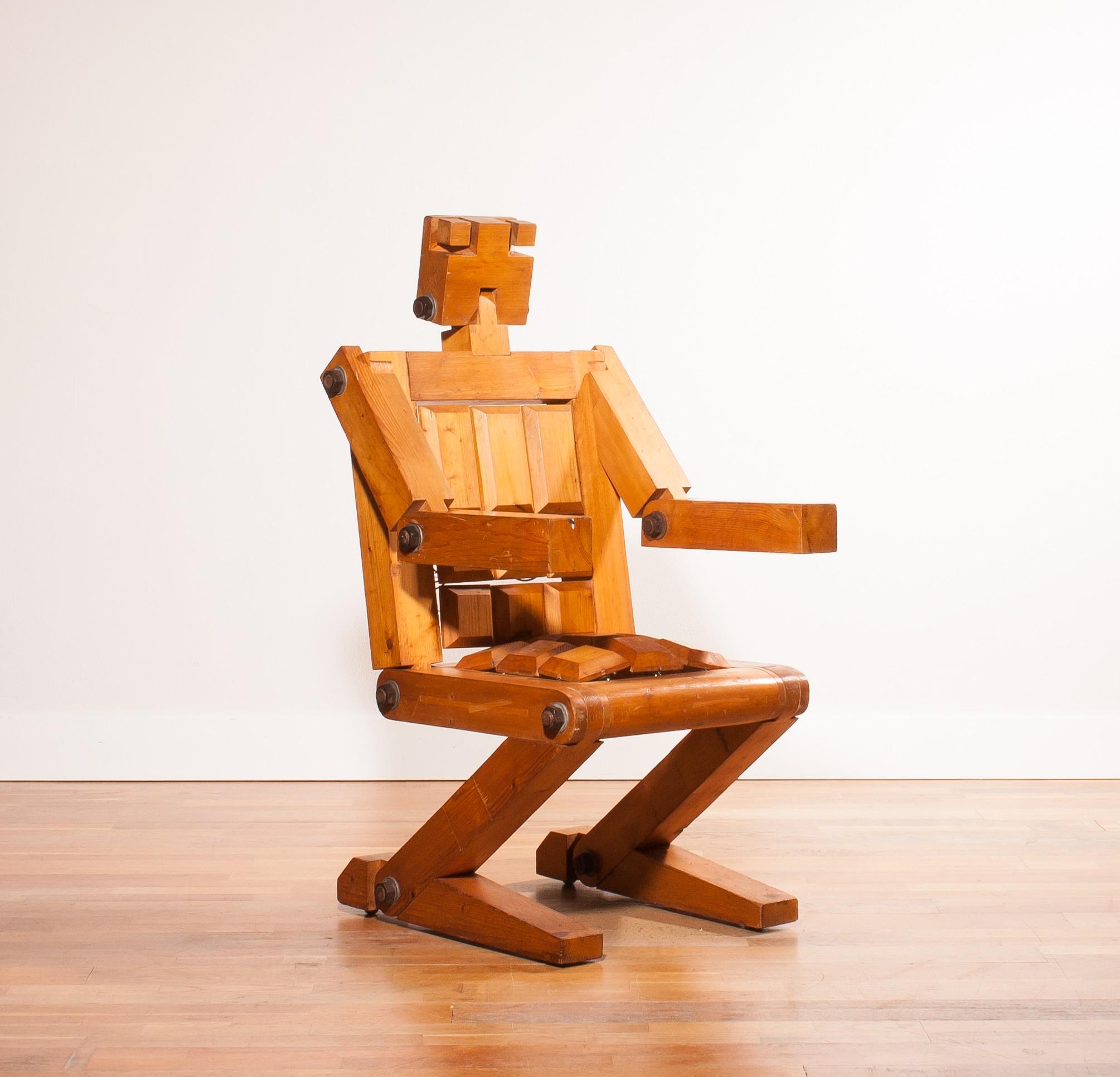 Very Rare Quot Bielke 77 Quot Robot Chair 1970s Design Market