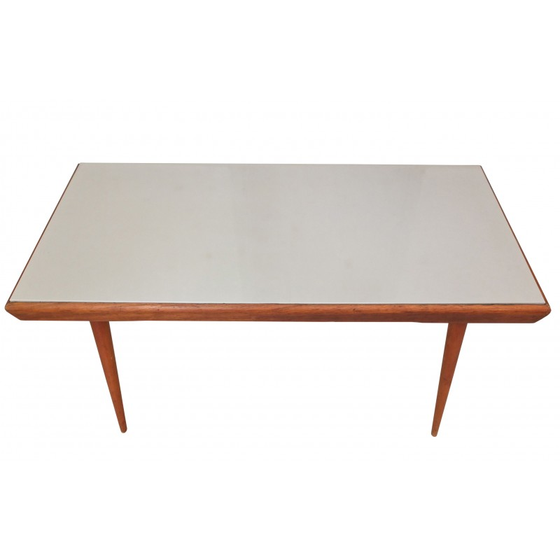 Grey Beechwood And Resin Coffee Table 1960s Vintage Design Furniture