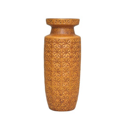 Beige ceramic vase with geometrical patterns - 1960