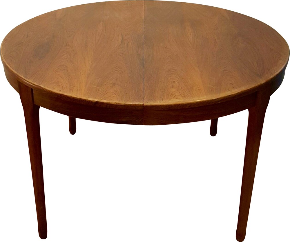 Meuble Tv Paris Extensible Round Table In Rosewood 1960s  # Meuble Tv Pied Chrome