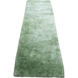 Green vintage woolen carpet - 1970s