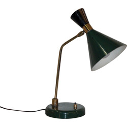 Dark green Italian desk lamp - 1950s