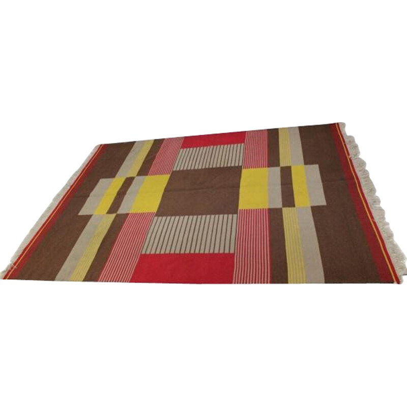 Large Modernist Geometric Rug, Antonin KYBAL - 1950s
