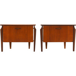 Pair of bedside tables in teak - 1950s