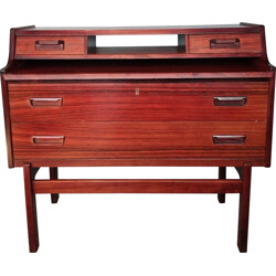 Rosewood writing desk with lock - 1960s
