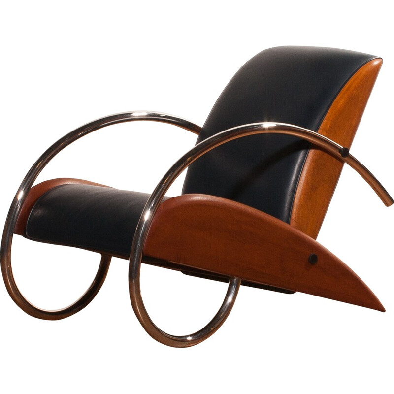 """Streamline"" Lounge chair, Klaus WETTERGREN - 1980s"