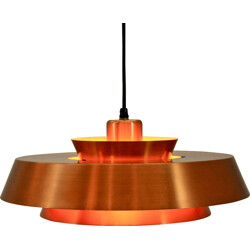 Danish pendant in copper by Jo Hammerborg for Fog and Morup - 1960s